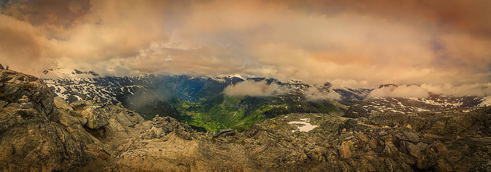 Dalsnibba Norway on Top of The World by Angela A Stanton