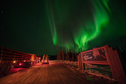 Ice Road Truckers Aurora by Roger Clifford
