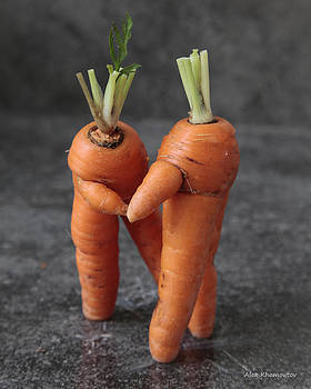 Dance With Me - Funny Art - Comic Dancing Carrot Couple - Good Luck in Love Energy Print by Alex Khomoutov