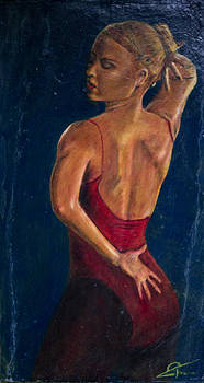 Dancer in Red by Peter Turner