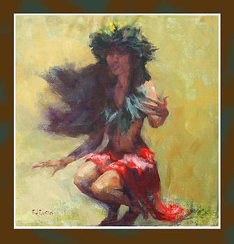 Dancer in red by Rod Cameron
