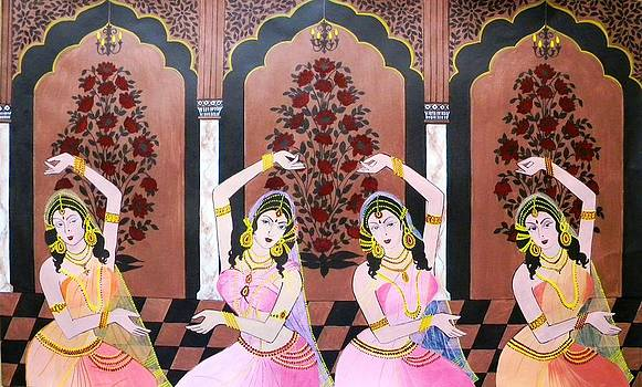 Dancers in Mughal Court by Rupa Prakash