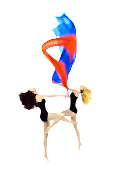 Dancers With Fabric by Philip Payne