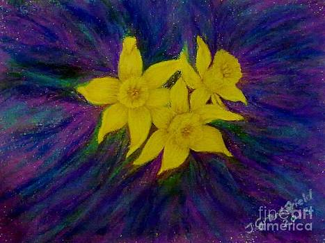Dancing Daffodils by Julie Jules Grant-Field