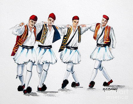 Dancing Evzones by Maria Barry