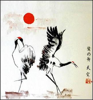 Dancing herons Suginomai by Vlad Grigore