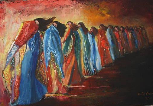 Dancing in the desert by Brigitte Roshay