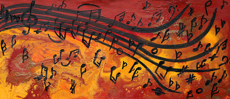 Dancing Musical Notes by Julia Apostolova
