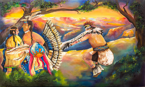 Dancing Over the Grand Canyon by Cyrene Swallow