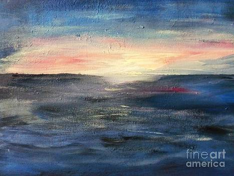 Dancing waves and glittering skies by Trilby Cole
