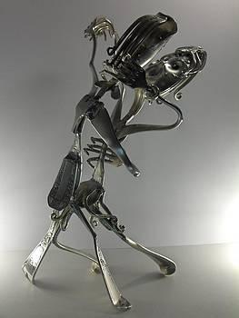 couple danseur de Tango by Dalu sculpteur Anticonformiste