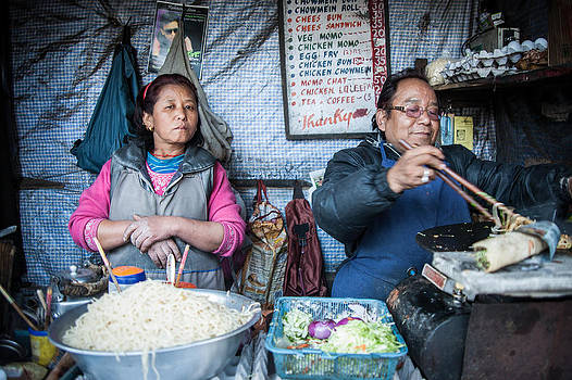 Darjeeling Street Vendors by James McRae