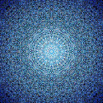 Dark Blue Quasicrystal by Dan Gries