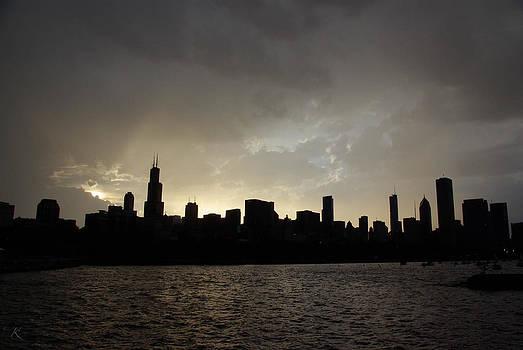 Dark Chicago Skyline by Kelly Smith