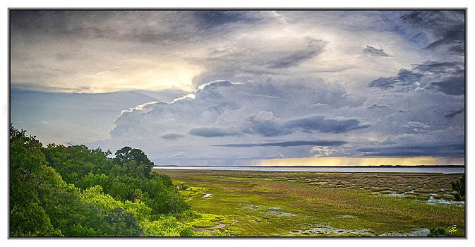 Dark Clouds Over The Coosaw by Gordon Fritz