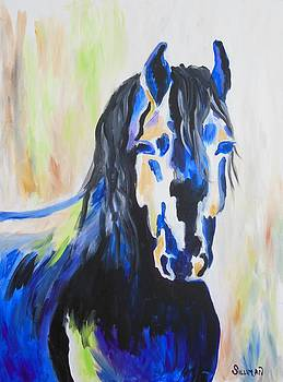 Dark Mustang Abstract by Veronica Silliman