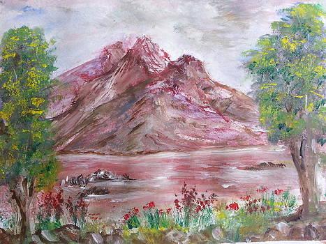 Dark Red Mountains by Kam Abdul