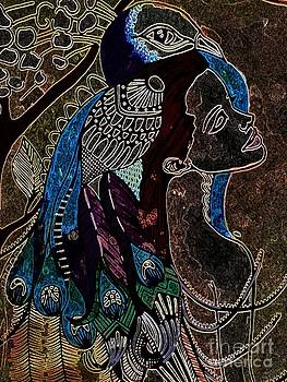 Darkside Peacock Woman by Amy Sorrell