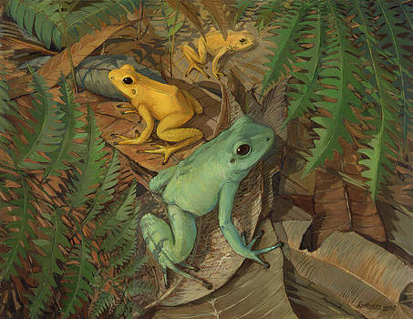 Dart Arrow Frogs by ACE Coinage painting by Michael Rothman