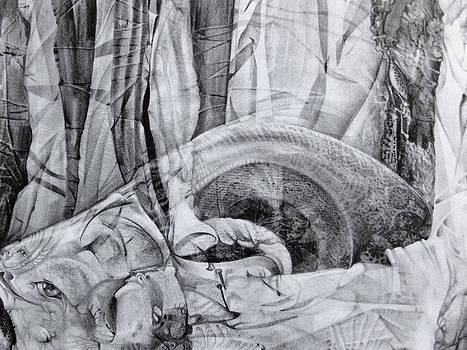 Das Monster hat sich im ungebuegelten Hintergrund versteckt by Otto Rapp