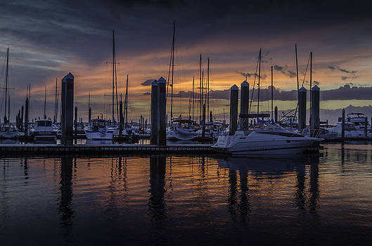 Dataw Island Marina Sunset by Richard Kook