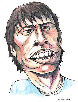 Dave Grohl Caricature by John Ashton Golden