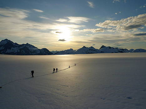 Davidson Glacier - Chilkat Range by Ryan Fell