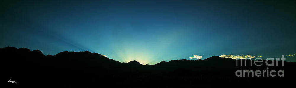 Dawn breaks over the Andes by T Lang