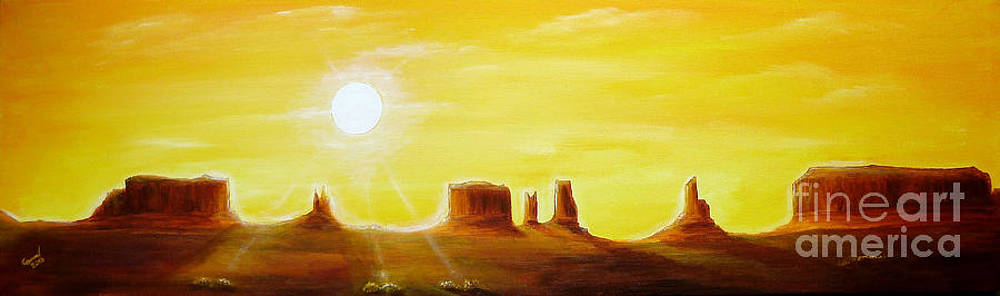 Dawn in Monument Valley by Christine Huwer