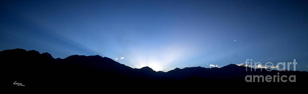 Dawn in The Andes by T Lang