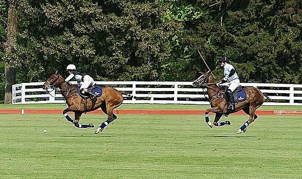 Dawn Jones at Prince Harry Polo Match by Russ Considine