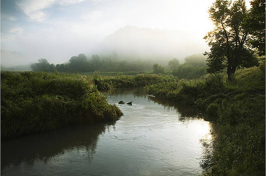 Dawn on a trout stream by Joe Wigdahl