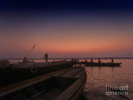 Dawn on the river Ganges by Neville Bulsara