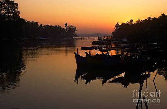 Dawn on the river Nerul by Neville Bulsara