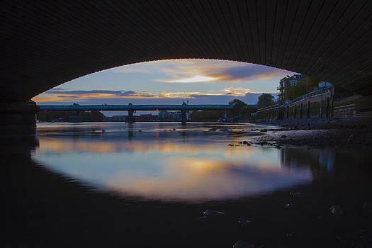 Dawn under the bridge by Matthew Bruce
