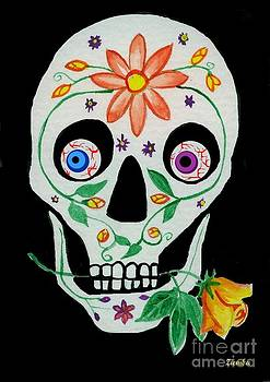 Day of the Dead Skull 1 by Lori Ziemba