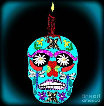 Day of the Dead Sugar Skull by Eva Thomas