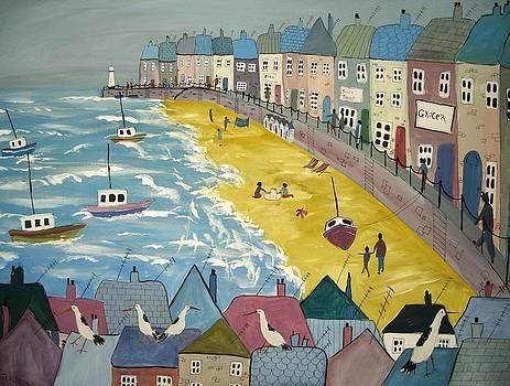 Day On The Beach by Trudy Kepke