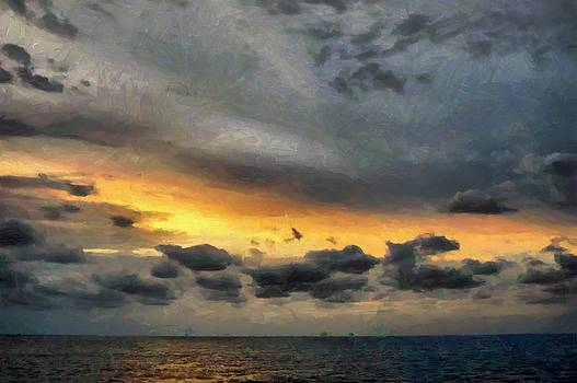 Daybreak over Eastern Carribean by Michael Flood