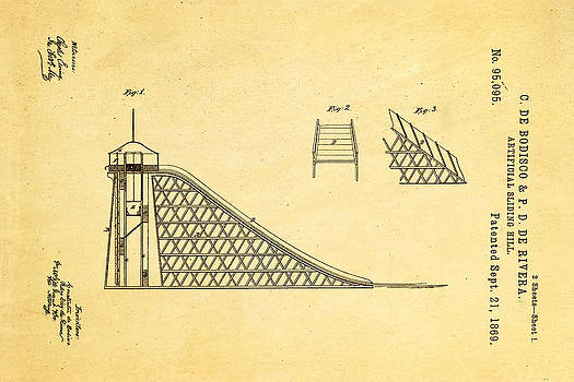 Ian Monk - De Bodisco Artificial Sliding Hill Patent Art 1869