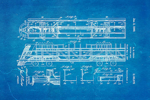 Ian Monk - Dean Train Tractor Unit 2 Patent Art 1940 Blueprint