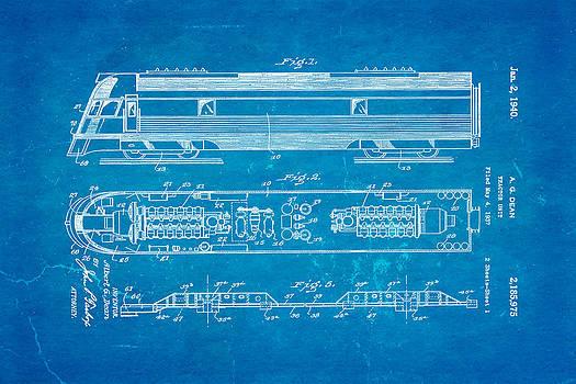 Ian Monk - Dean Train Tractor Unit Patent Art 1940 Blueprint