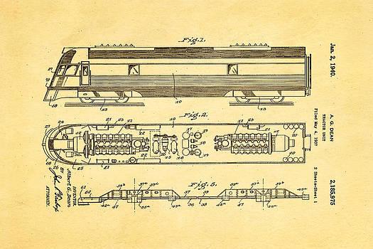 Ian Monk - Dean Train Tractor Unit Patent Art 1940