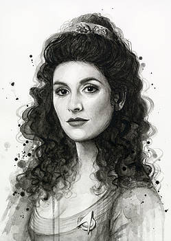 Deanna Troi - Star Trek Fan Art by Olga Shvartsur