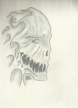 Death Sketch by Saleem Baig