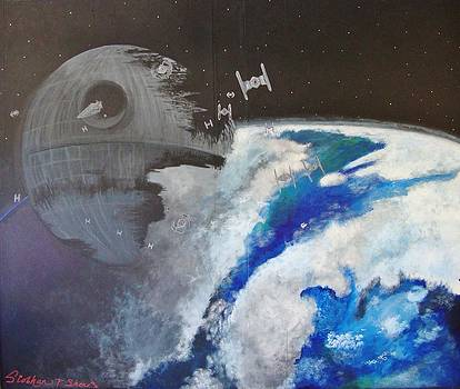 Death Star over Forest Moon by Siobhan Shene
