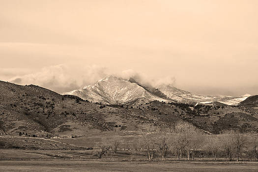 James BO  Insogna - December 16th Twin Peak Sunrise Sepia View