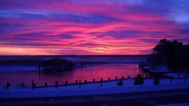 December sunset by Paul Deforrest