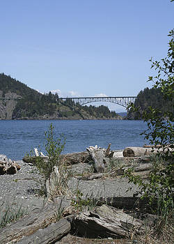 Deception Pass Bridge III by Mary Gaines