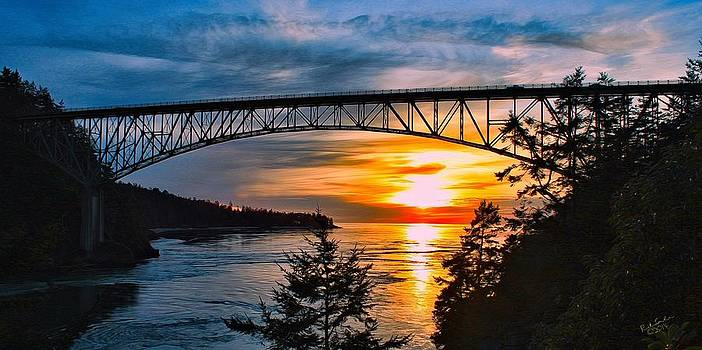 Deception Pass Sunset by Rick Lawler